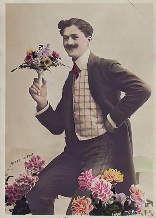 Весна Старинная открытка 1 марта